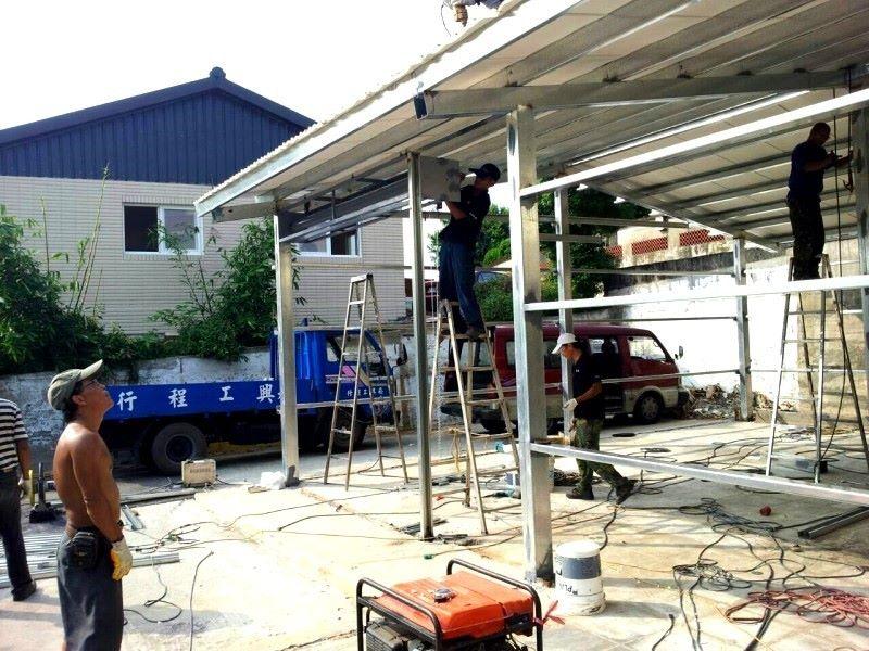鐵皮屋設計作品-30坪一天完工