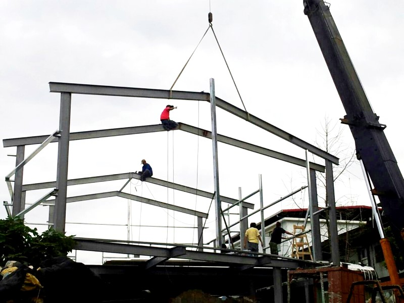 鐵皮屋設計作品-6H型鋼吊料