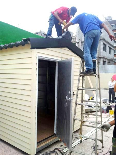 鐵皮屋樣式-簡易橫式壁板修邊