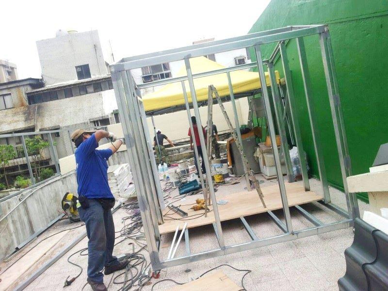 鐵皮屋樣式-骨架焊接