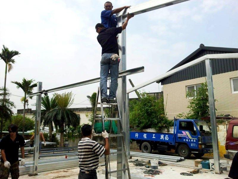 鐵皮屋樣式-施做過程