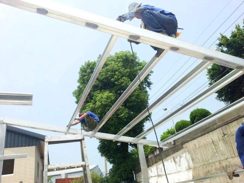 鐵皮屋樣式-橫梁焊接