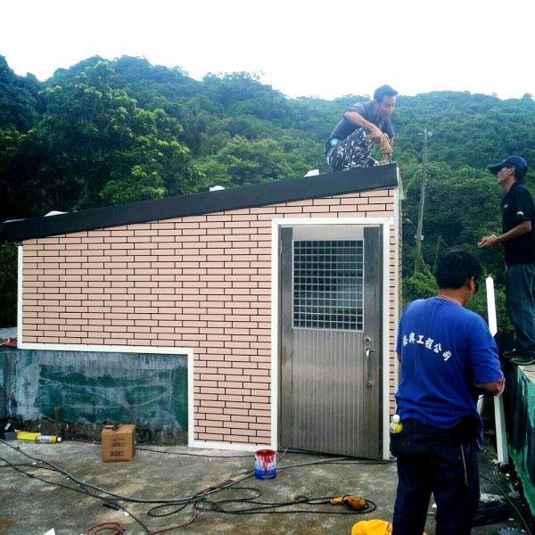 鐵皮屋設計造景作品-橫式壁板