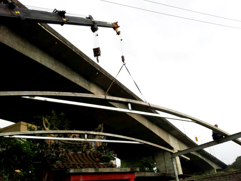 鐵皮屋工程-圓弧型施工