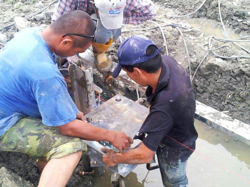 鐵皮屋工程-做基礎樁