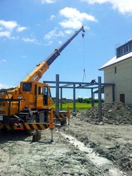 鐵皮屋工程-H型鋼骨架