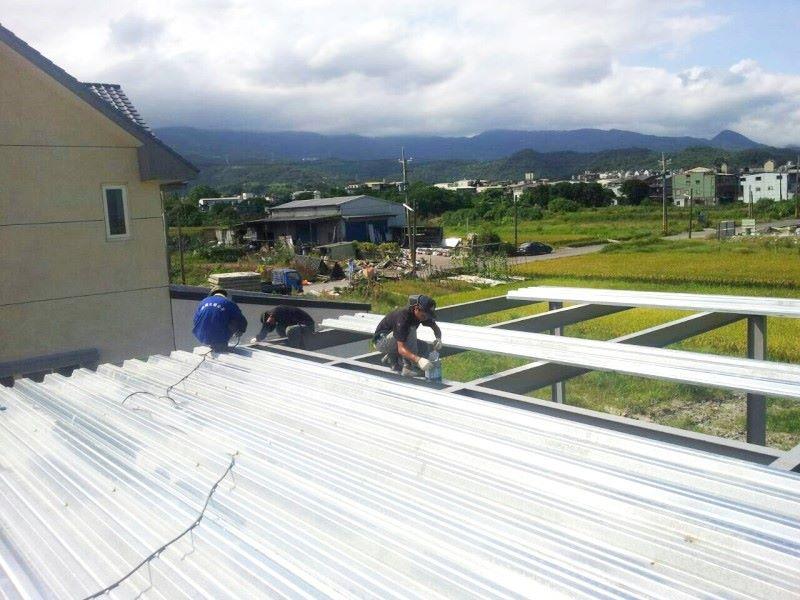 鐵皮屋工程作品-施做過程