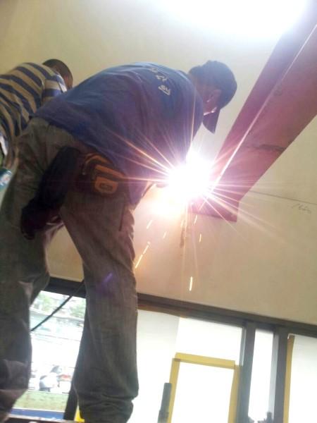 鐵皮屋工程作品-夾層灌漿H型鋼施工圖