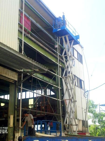 鐵皮屋工程作品-廠房更換鐵板