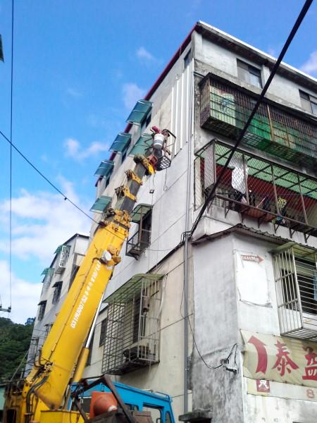 窗戶遮陽遮雨棚工程施工-2