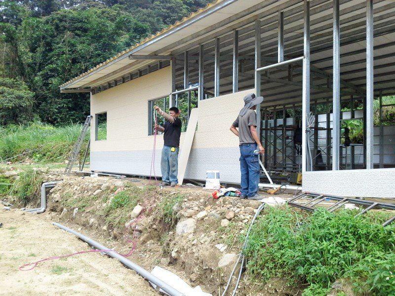 鐵皮屋工程含泥作施工-2