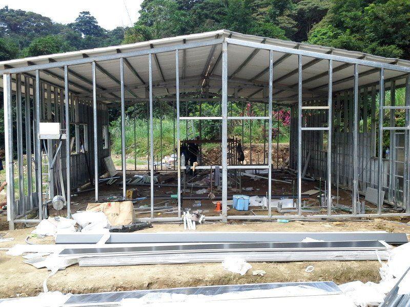 鐵皮屋工程含泥作施工-4
