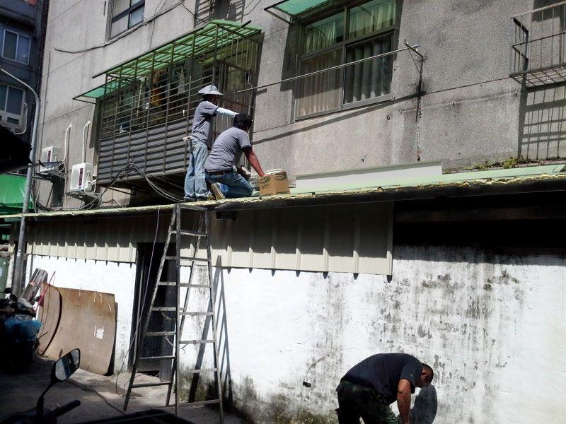 鐵皮屋工程含泥作施工-5